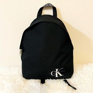 Calvin Klein medium backpack black color